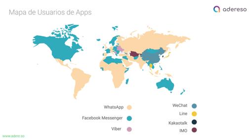 whatsapp business por países